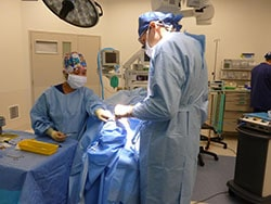 Dr. Tsirbas in surgery